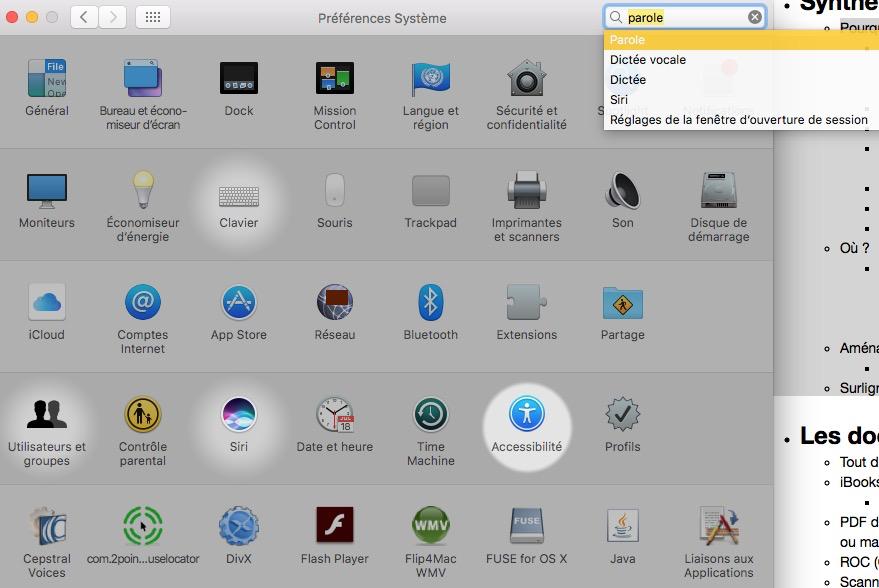 Activer la synthèse vocale (parole) sur MacOS