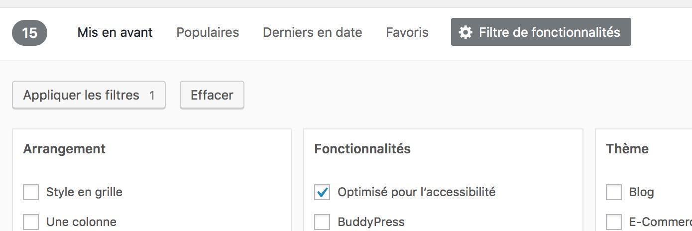 Accessible en WordPress
